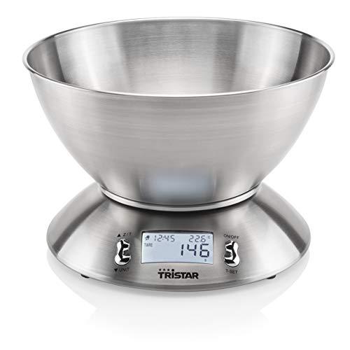Tristar KW-2436 Báscula de cocina balanza, Acero Inoxidable, plateado