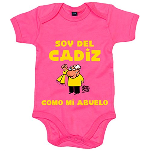 Body bebé soy del Cadiz como mi abuelo Jorge Crespo Cano - Rosa, 6-12 meses