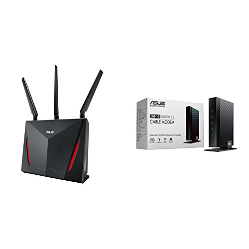 Asus AC2900 Dual band Wireless router (RT-AC86U) with DOCSIS 3.0 16X4 Cable modem ( CM-16) Kit