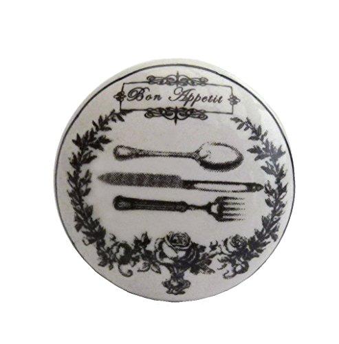 La Finesse Möbelknopf Bon Appetit Knauf Besteck Keramik Griff