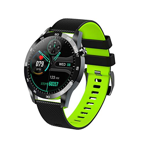 Reloj inteligente para teléfonos Android y teléfonos iOS, relojes inteligentes con pantalla táctil completa de 1.54 'para hombres y mujeres, podómetro a prueba de agua IP67, reloj rastreador de ejer