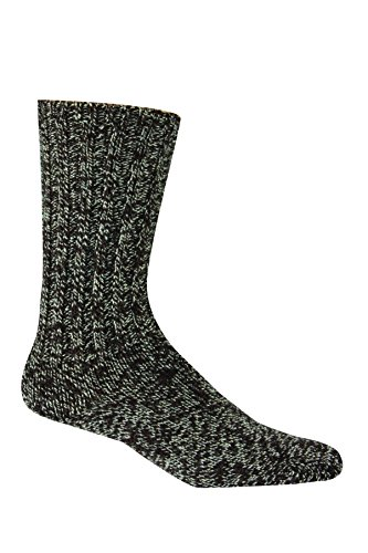 Woolrich Unisex-Adult's Merino Solid Ragg Wool Sock, leather, Large