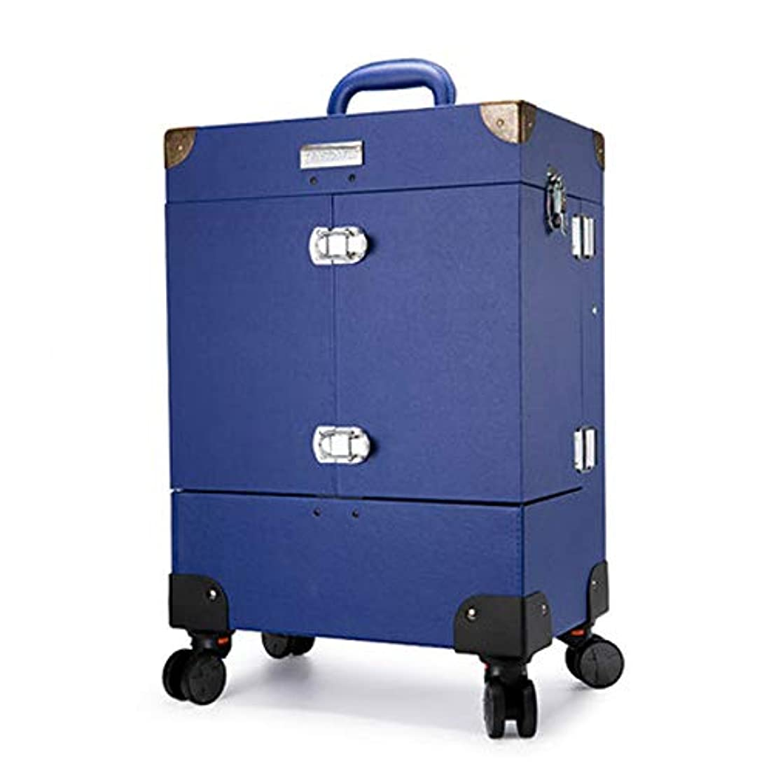 同等のリーン牧師プロ専用 ネイリスト クローゼット スーツケース ネイル収納 メイクボックス キャリーバッグ ヘアメイク ネイル 大容量 軽量 高品質 多機能 プロ I-JL-3505T-BL