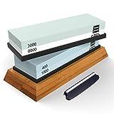 Premium Knife Sharpening Stone Kit, ASEL 4 Side 400/1000 3000/8000...