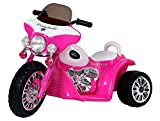 Triway Kindermotorrad Tricycle Police Pink Chopper Elektromotorrad 6V Kinderfahrzeug elektrisch