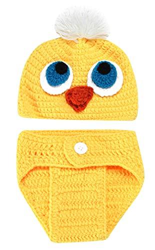 Happy Cherry Baby Fotografie Prop Häkelarbeit Huhn Kostüm Hut Neugeborenen Fotoshooting Requisiten Outfits