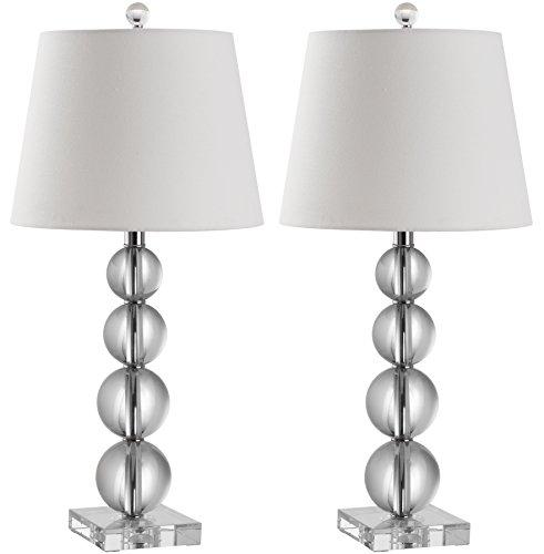 Safavieh Maria Lampe de Table en Cristal (Lot de 2), Crystal, 27 35 x 35 x 67,31 cm