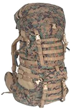 Military Outdoor Clothing Used Previously Issued U.S G.I USMC MARPAT Large ILBE Complete Field Pack with Lid and Hip Belt
