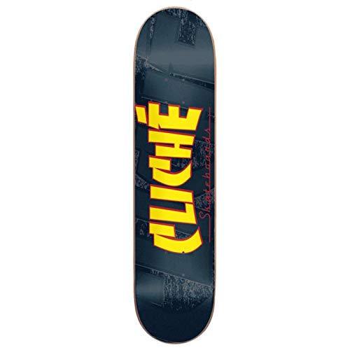 CLICHÉ SKATEBOARDS - Vassoio per skate banco Black Yellow 8.25 x 31.9
