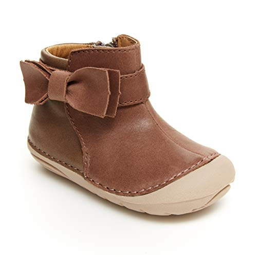 Stride Rite Baby Girls Soft Motion Genevieve Fashion Boot, Greige, 3 Infant