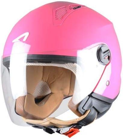 Astone Helmets - MINIJET monocolor- Casque jet - Casque jet urbain - Casque moto et scooter compact - Coque en polycarbonate - Lipstick S