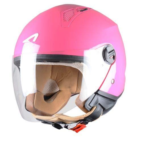 Astone Helmets - MINIJET monocolor- Casque jet - Casque jet urbain - Casque moto et scooter compact - Coque en polycarbonate - Lipstick M