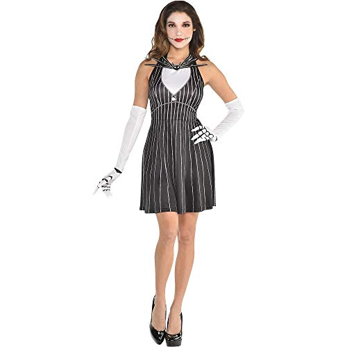 The Nightmare Before Christmas Jack Skellington Halloween Costume Accessory Kit for Women, One Size, by Party City