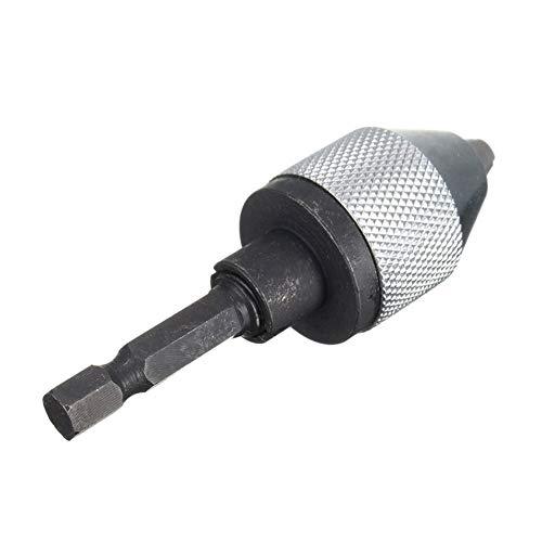 Hohe Electric Grinder Schnellwechsel-Bohrfutter 6,35 mm Sechskantschaft Universal-Bohrer-Konverter Schraubendreher Schlagdreher Adapter Geeignet (Color : Silver)