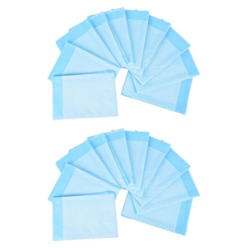Hemoton 20Pcs 60x90cm Disposable Urinary Incontinence Nursing Pad Adults Diaper Pee Absorbing Mat Urine Bed Pads