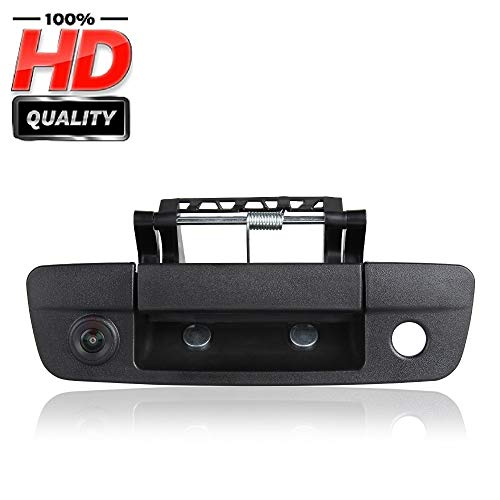 HD 1280x720p Tailgate Handle Car Backup Reverse Reversing Rear View Camera for Ford Pickup Truck Dodge Ram 1500 2500 3500 (2009-2012) Night Vision Backing Cameras
