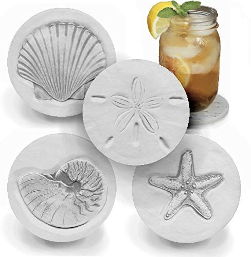 Drink Our shop OFFers the best service Coasters - Absorbent Mixed Shells New York Mall Handmade by set McCa