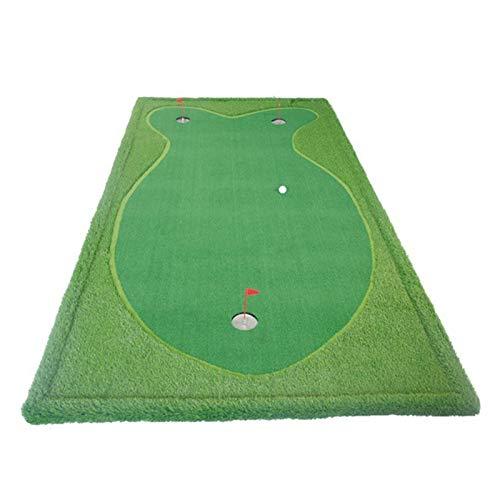 NEHARO Alfombrilla de Golf Mat de la práctica de Golf Que golpea el colchón de Golf Mat Mat Golf Training Ayuds Training Mat Regalo (Color : Green, Size : Medium)