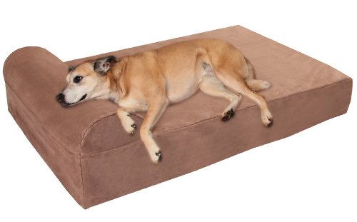 Big Barker 7' Orthopedic Dog Bed with Pillow-Top (Headrest Edition) |...