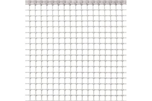 Rete Protezione in Plastica a maglie piccole per balconi, ringhiere, cancelli, disponibili in 5 colori e varie lunghezze h m 1x20 BIANCO