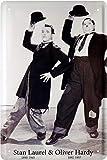 Tin Sign Blechschild 20x30 cm Dick + Doof Laurel & Hardy