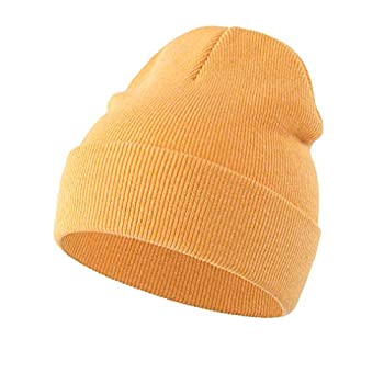 Home Prefer Toddler Boys Girls Winter Hat Cotton Baby Beanie Warm Skull Cap Yellow Small