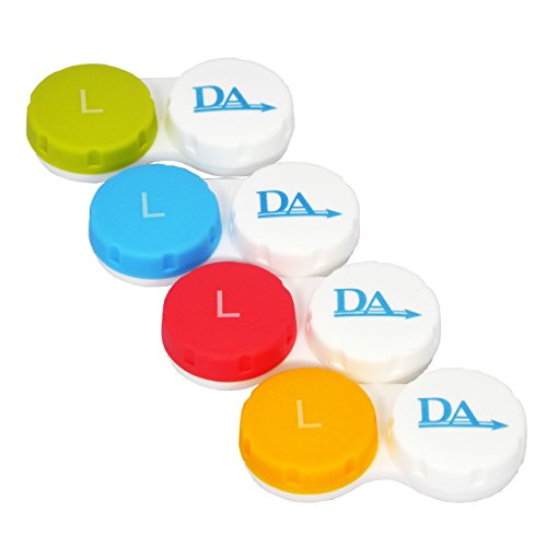 4 x Contact Lens Cases ~ Colour Coded L&R Soaking Storage Cases (Mehrfarbig)
