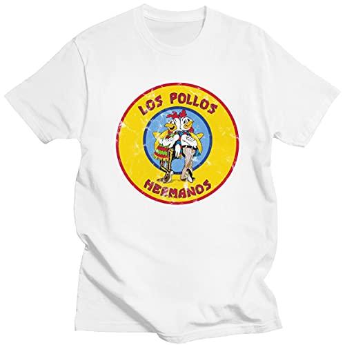 Vintage Male Distressed BR-eak-ing B-ad T-Shirt Short-Sleeve Cotton L-os Po-ll-os He-RM-an-os Tshirt TV Show tee Ch-IC-Ken BR-OT-he-RS Women Tshirt