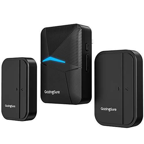 Wireless Door Sensor Chime, GazingSure 1500Ft Range Wireless Door Alarm for Home/Office/Store, Door Open Chime Window Alarm, 2 Door Sensors & 1 Receiver