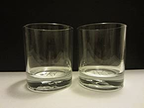 Set of 2 Ketel One Premium Vodka Netherlands K Logo Round Lowball Rocks Glasses