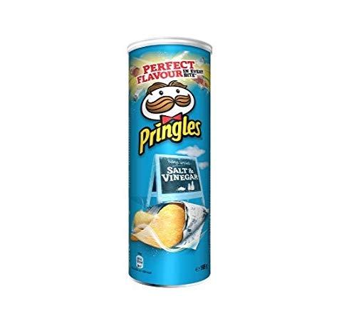 6x Pringles Salt & Vinegar Patatine Salz & Essig 160g Kartoffel chips