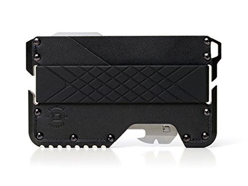 Dango T01 Tactical EDC Wallet w/ Multitool - Made in USA - Genuine Leather, Slim, Minimalist, Metal, RFID Blocking