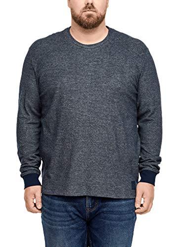 s.Oliver Big Size Herren 15.910.31.6936 Langarmshirt, Blau (Fresh Ink 5952), XXX-Large (Herstellergröße: 3XL)