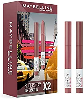 Maybelline New York New York New York SuperStay Ink Crayon Lipstick Set of 2 Pieces