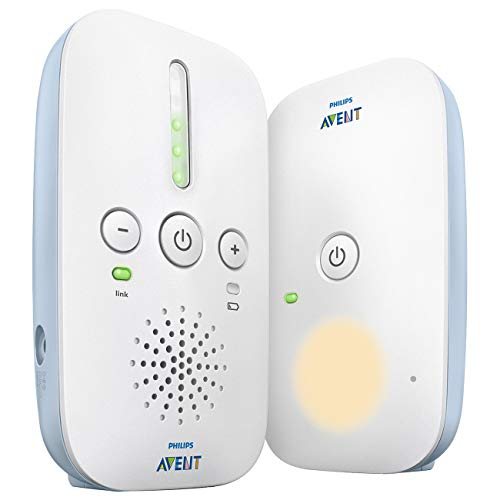 Philips Avent DECT-babyfoon - Storingsvrije verbinding - Energiebesparende ECO-modus - Geluidsniveaulampjes - Bereik tot 330 meter - Tot 24 uur gebruiksduur - Nachtlampje - SCD503/26 - Wit