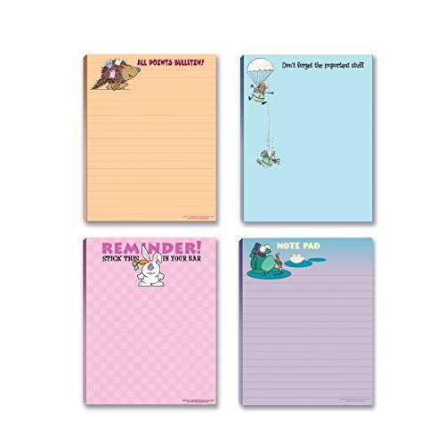 Lustige Notizblöcke, sortiert, kleine Geschenkidee, 4 lustige Notizblöcke – lustiger Bürobedarf (Funny #5)