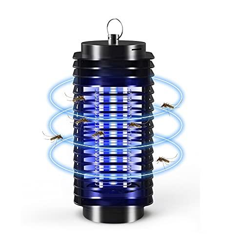 BBTWO Matamoscas eléctrico contra insectos, UV, lámpara antimosquitos, lámpara de protección contra golpes eléctricos, trampa para mosquitos, moscas, mosquitos, para interiores y jardines