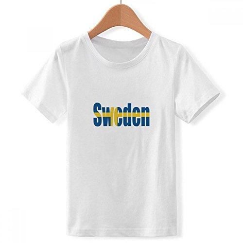 DIYthinker Zweden Land Vlag Naam Crew Neck Wit T-Shirt