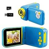 tronisky Kinder Kamera, Digitalkamera Kinder Spielzeug Kamera mit 32GB SD-Karte 2,4 Zoll Bildschirm 12MP HD 1080P USB Wiederaufladbare Selfie Kamera für 3-12 Jahre Alter Jungen Mädchen Geschenke
