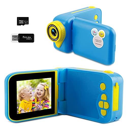 tronisky Macchina Fotografica per Bambini, Videocamera Digitale Fotocamera per Bambini con Schermo HD da 2.4 pollici 1080P 32 GB TF Card, Giocattoli Regalo per Ragazzi Ragazze 3-10 Anni (blu)