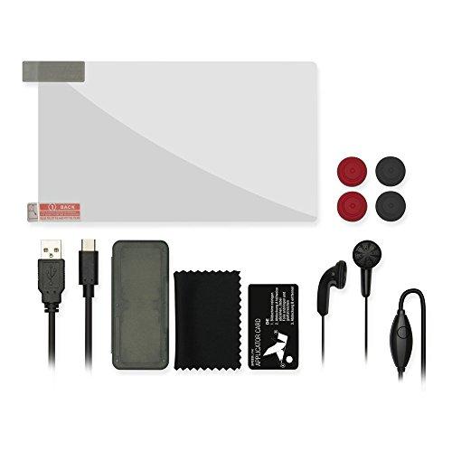 Speedlink 7-in-1 Starter Kit für Nintendo Switch, Siebenteiliges Zubehörpaket - Schutz und Komfort - schwarz