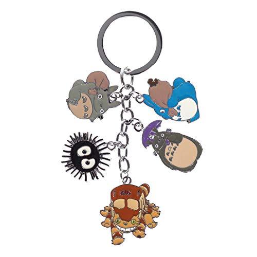 CoolChange Totoro Schlüsselring mit 5 Figuren Anhängern
