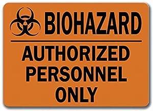 Warning Biohazard Zombie Türschild Warnung Warnschild Blech Metallschild