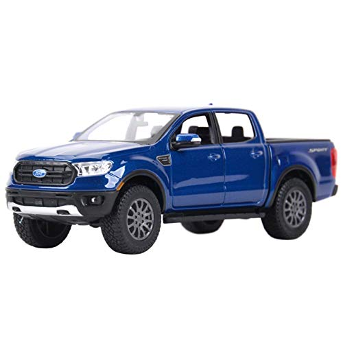 NMBD 1:27 para 2019 Ford Ranger Estado Estado Vehículos Modelo Coleccionable Modelo Juguetes (Color : Blue, Size : Wite Box)