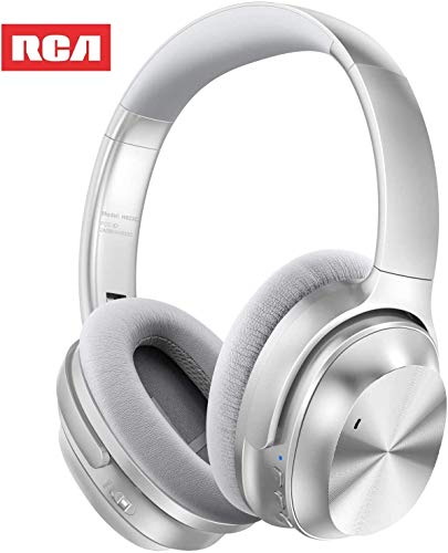Active Noise Canceling Headphones, RCA Bluetooth 5.0 Headphones Over Ear Wireless Headphones with...