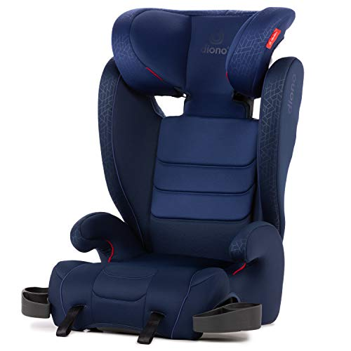 Diono Monterey XT Latch, 2-in-1 Belt Positioning Booster Seat with Expandable Height/Width, Blue Kansas