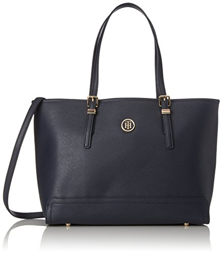 Tommy Hilfiger Honey Med Tote, Damen Stofftasche, Blue (Tommy Navy), 14x28x39 cm (W x H L)