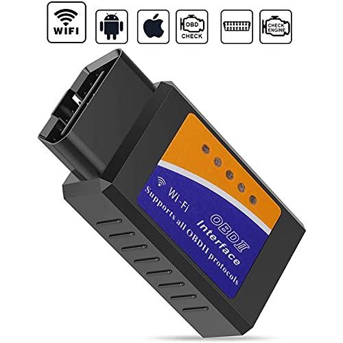 Rpanle OBDII Auto Code Lettore Scansione Strumento, Forte Compatibilità, Collegare Via OBD WiFi, Compatibile con iOS, Android & Windows Dispositivi, Adatto per Maggior Parte Auto