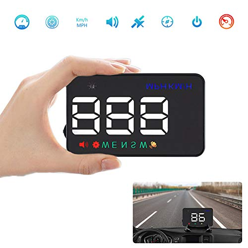 """Pantalla Frontal para Automóvil, GPS De 3,5""""Que Se Refleja En El Parabrisas O En La Pantalla del HUD Directamente, como Encendedor De Automóvil para Usar"""