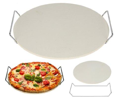Pizzastein - Steinplatte für Pizza Backstein 33 cm Steinofenpizza selbstgemacht